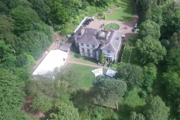 Aerial View of a Kirkhill Wedding
